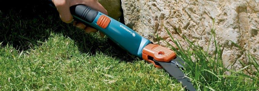 Ножницами для стрижки травы используются для удаления оной в труднодоступных местах